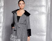 Knitted Cardigan with Fur Collar and Manchettes, 123.308