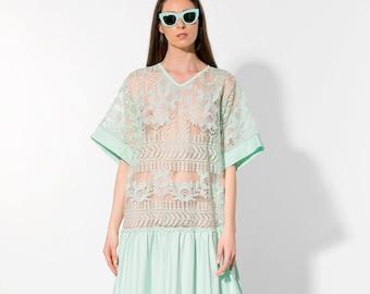 Cotton maxi dress/ Maxi dress / Boho maxi dress/ mint dress/plus size clothing/ Cotton dress/ Summer maxi dress/ Plus size dress/ Plus size