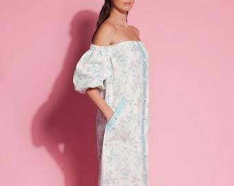 Floral dress/ Summer dress/ Dress/ Dresses for women/ Dress women/Midi dress/ off shoulder dress/ floral midi dress/ plus size dress/135.318