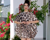 Tunic Women, Animal Print Tunic Dress, Plus Size Clothing, Leopard Dress, Extravagant Dress, Short Dress, Mini Dress, Neoprene Dress, Animal