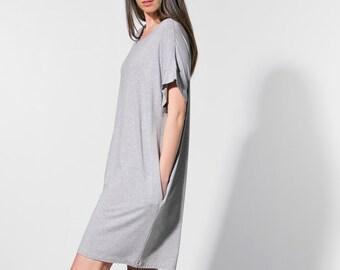 Oversized t shirt/ top/ maxi tunic/ Maxi top/ grey top/ Tunic/ plus size tunic/ plus size clothing/ oversized top/ plus size/ 109.325