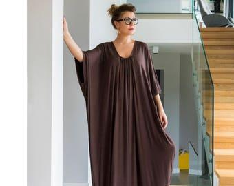Brown dress, Plus size robe, Brown kaftan, Kaftan maxi dress, Robe, plus size maxi dress, plus size clothing, plus size caftan,dress,111.165