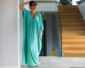 Mint maxi dress, Mint green dress, Mint robe, abaya maxi dress, abaya, plus size dress, Plus size caftan,Plus size kaftan maxi dress,111.166