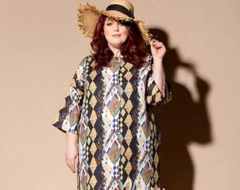 Plus size linen dress/ Plus size dress/ Plus size Kaftan/ Plus size clothing/ Plus size / Plus size summer dress/ Linen clothing/ 054.244