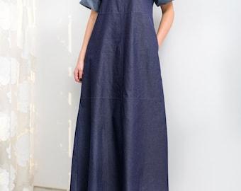 16ca7be998 Denim Maxi Oversize Dress by Cherryblossomsdress