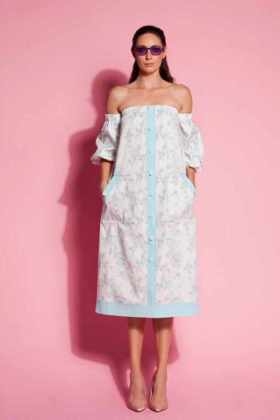 318 Summer dress Dresses 135 women shoulder plus Dress women size dress dress for dress dress Dress off floral Midi Floral dress midi 5g1qO1
