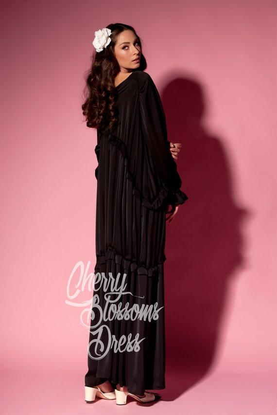 Dress Dress Party Abaya Plus Dress Dress Maxi Long Black Dress Bohemian Robe Black Summer Caftan Kaftan Size Long Boho Dress pqZp61