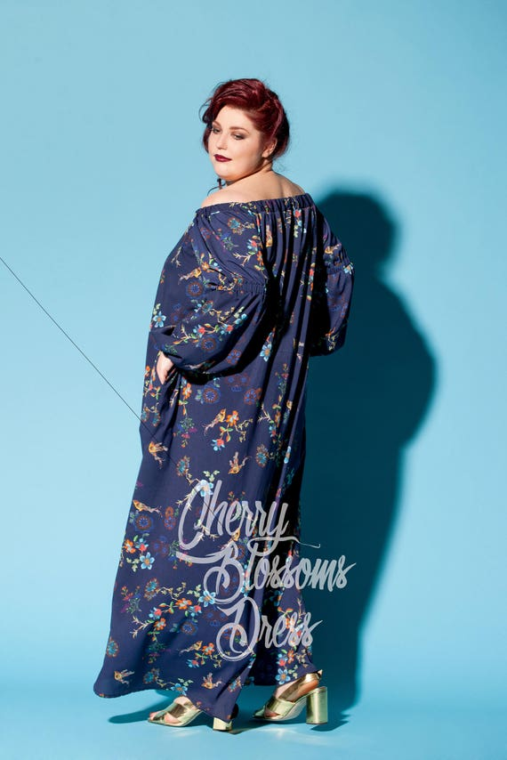 295 sundress size dress Blue summer Plus size Plus boho size dress size Plus 023 dress Plus dress dress Maxi Plus Plus size size Plus size zqSnBC