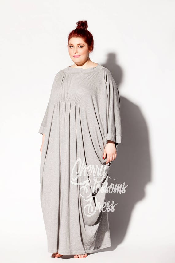 Dress Plus clothing Plus dress Plus Grey robe size 111 Size size caftan Plus 190 size maxi Plus Plus size Maxi Dress size Kaftan 77x68Y5
