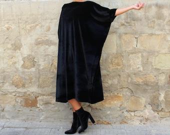 Velvet Dress/ Velvet maxi dress/ Black velvet dress/ Black maxi dress/ Plus Size Dress/ Evening dress/ Elegant dress/ Evening gown/ 137.208