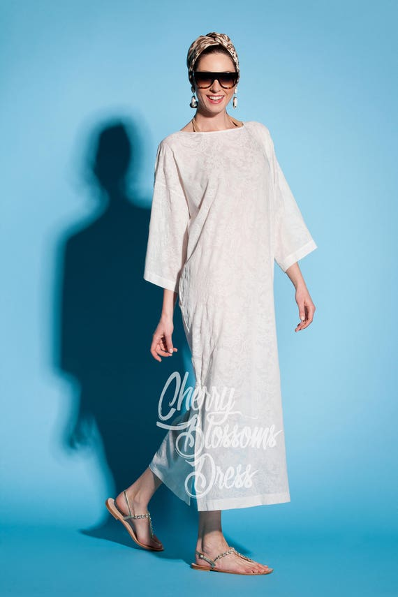 White dress White White Plus White robe White Plus White dress up dress caftan cotton size caftan lace beach cover lace robe size qAInEP