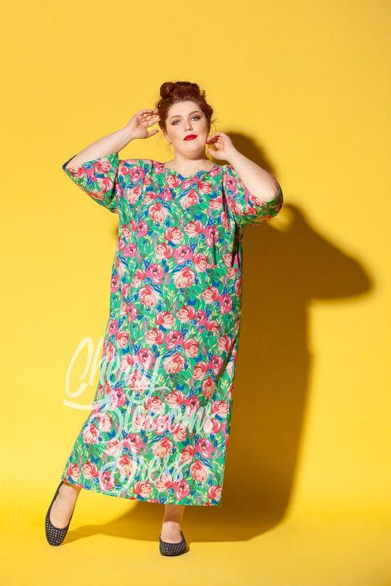 size size dress dress clothing dress Plus Cotton dress dress Plus Floral size Kaftan size size Plus Plus Plus size summer maxi Plus Long CqxfptS