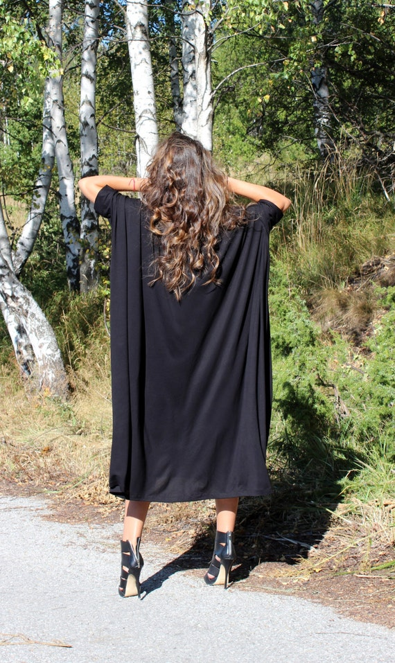 clothing dress Maxi size dress size Midi dress Loose Plus dress Party dress Caftan Black Plus fitted Abaya qSTwI71w
