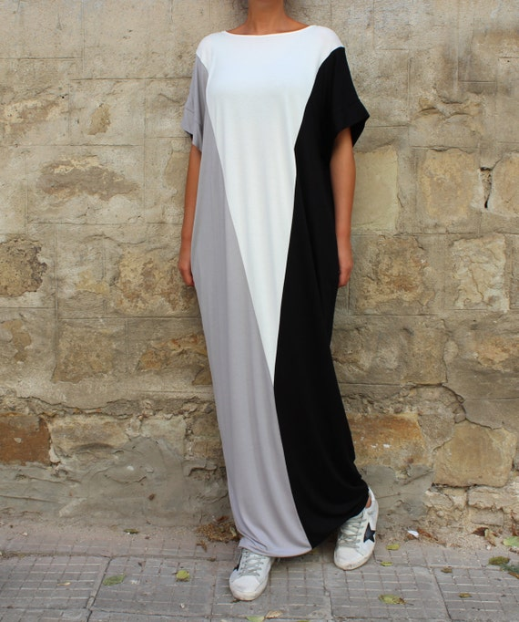 size dress Maxi Plus and Black dress Casual Long dress size black clothing dress dress Kaftan white Plus qZ4O4fp