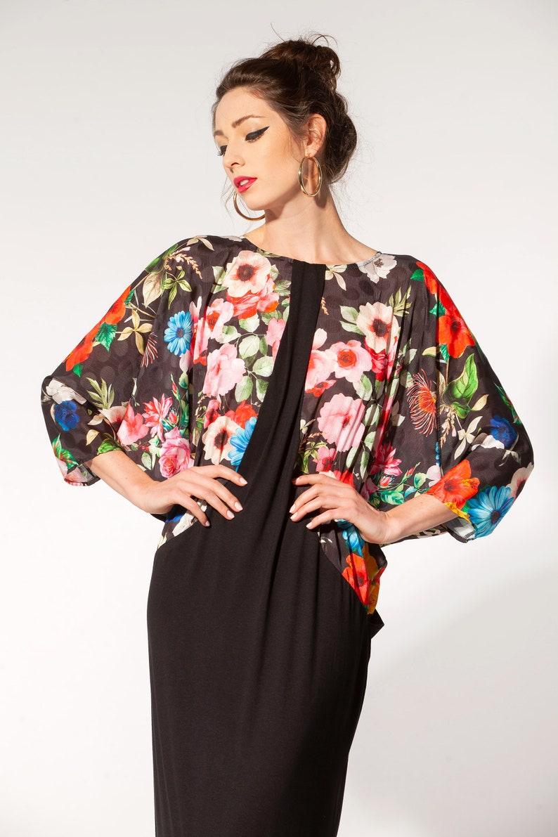 045.378 Floral Long Sleeve Maxi Dress