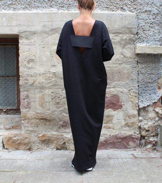 Plus size size Caftan dress Long sleeve Maxi Plus Plus Plus maxi Kaftan Black 134 dress dress kaftan Kaftan size clothing 125 size zqfwxHU