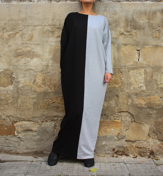 Plus size Kaftan dress 134 with pockets Black 124 Plus Maxi Abaya Grey Caftan dress Dress dress clothing size kaftan Oversized dress zxTqpTn8