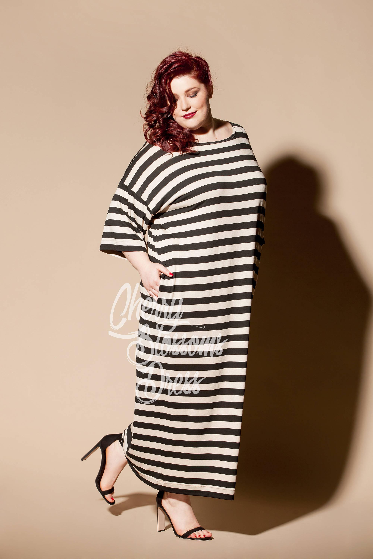 Striped Maxi dress/ Plus size maxi dress/ Plus size kaftan/ | Etsy