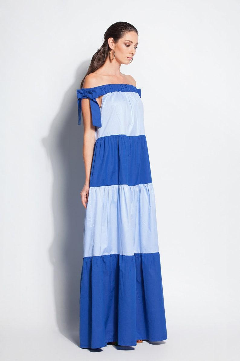 Blue Maxi dress/ boho dress/ Trendy Plus size clothing/ plus | Etsy