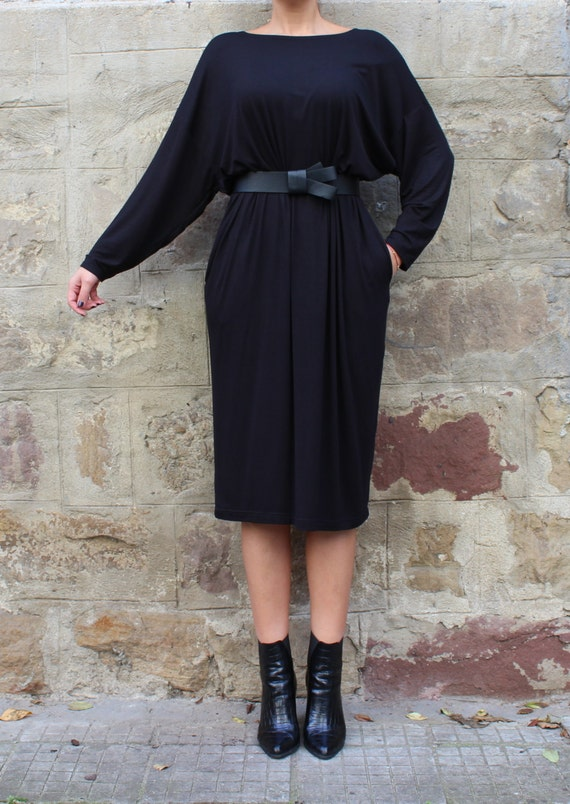 Plus Black dress Viscose Casual dress clothing Oversized Day dress Maxi Plus size dress dress dress dress Midi size H8wrqHZB