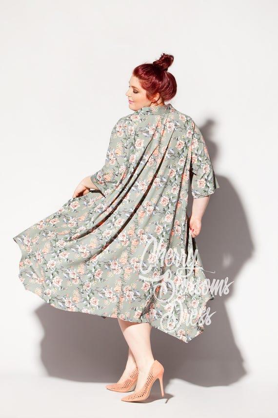 dress Maxi Plus maxi 289 Midi size Plus 089 dress Maxi Long Casual size Floral dress summer dress dress dress dress Shirt sleeve Dress 7cZ44BS