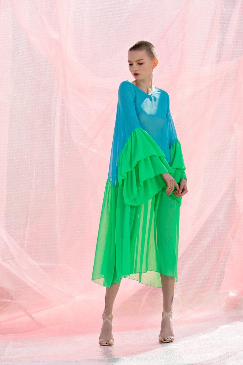 Blue dress maternity dress plus size clothing Green dress   Etsy