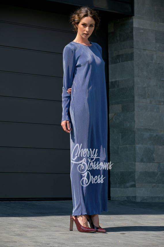 Oversized Clothing Dress Kaftan Size Elegant Dress Bohemian Blue Dress Maxi Dress Spring Plus Long 016 Dress 227 Summer xpqCwf