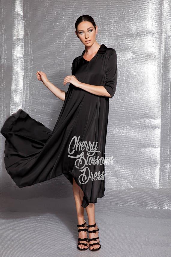 with dress maxi midi Shirt Black dress Dress shirt dress midi Maxi dress Maxi sleeves shirt Black dress dress Midi dress Black 8wqfAfH