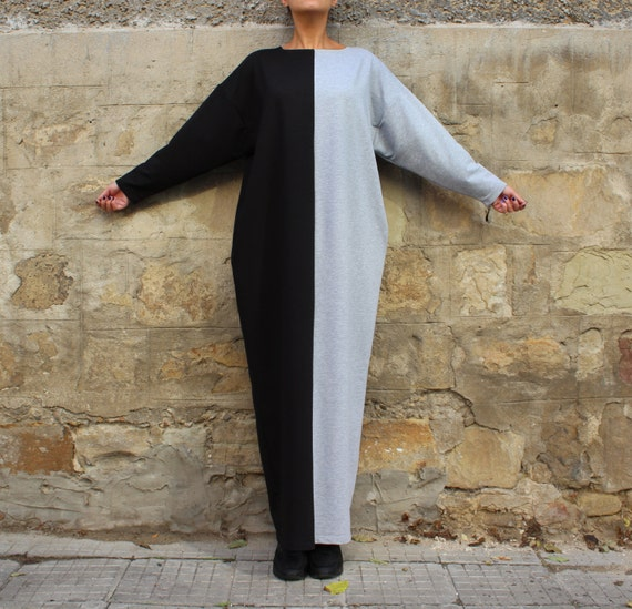 Plus size Kaftan dress 134 with pockets Black 124 Plus Maxi Abaya Grey Caftan dress Dress dress clothing size kaftan Oversized dress zxTqpTn8