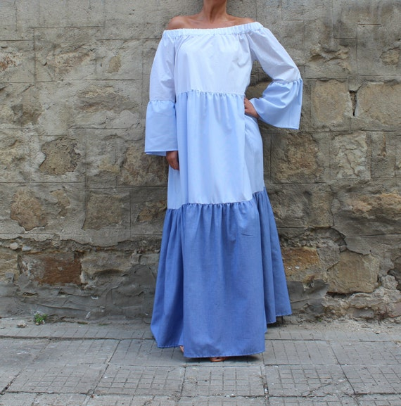 Dress Boho Dress size Maxi Summer Cotton Plus Cotton Dress Maxi Dress Dots Long Maxi Maxi Blue Maxi Dress Dress Maxi Maxi Dress Polka U77F4Xwqn