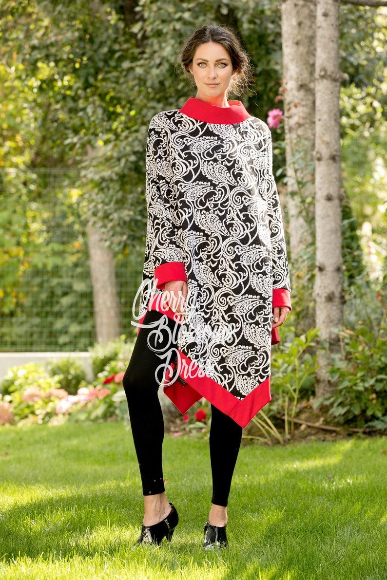 101.298 Floral Maxi Long Sleeve Maternity Tunic