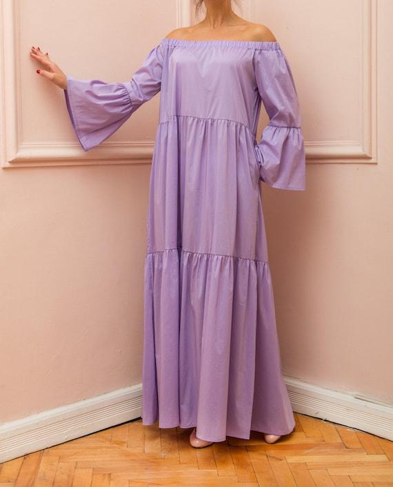 Bohemian dress dress Long Boho Maxi dress dress Summer maxi Maxi sleeve boho Maxi dress summer dress Dress dress Long Purple Dress wfO6qn