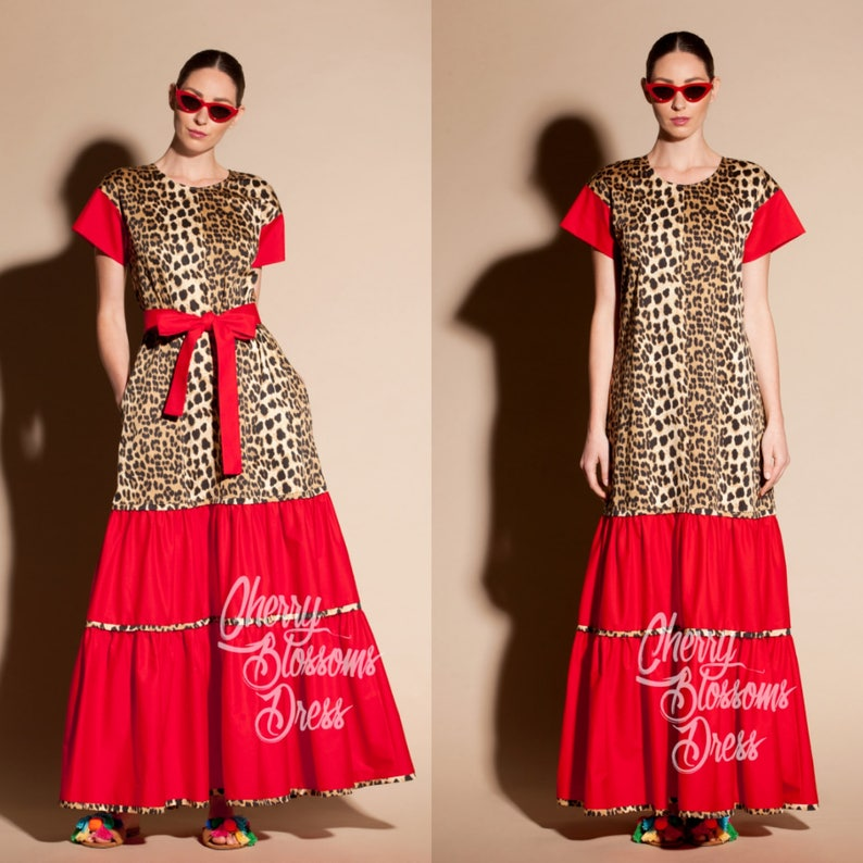 Boho maxi dress/ plus size clothing/ Leopard dress/ dress/ | Etsy