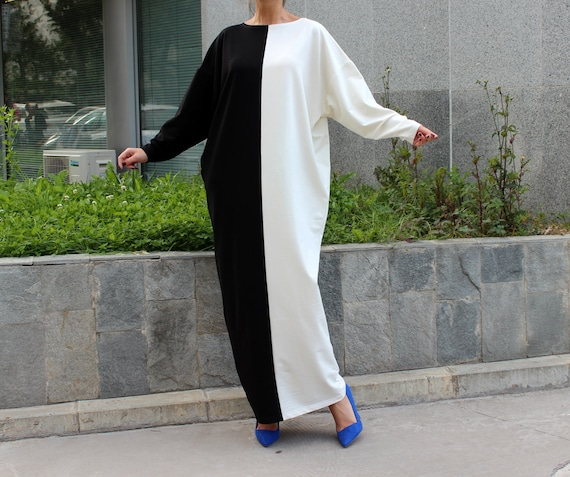 Long dress pockets Abaya dress Caftan 134 Black Kaftan White Dress and dress with size Oversized dress MAXI 120 Plus dress dress UU6v1xnzqZ