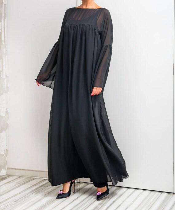 Black Maxi Dress/ Black elegant dress/ Black Evening dress ...