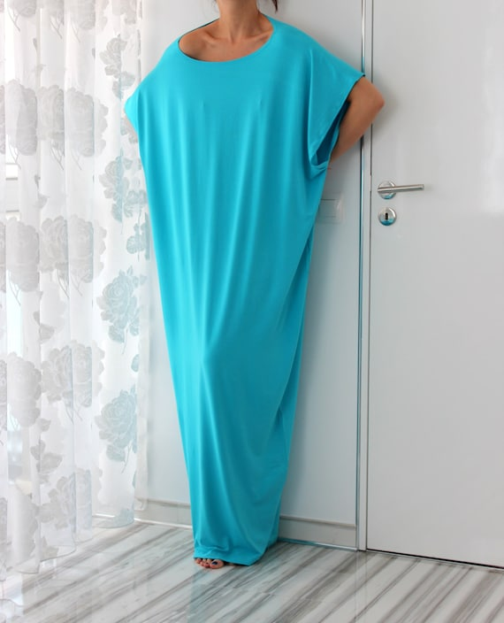 dress Caftan Caftan dress Maxi dress Maxi Abaya Turquoise dress Oversized Backless dress Woman xwRS0TqaT