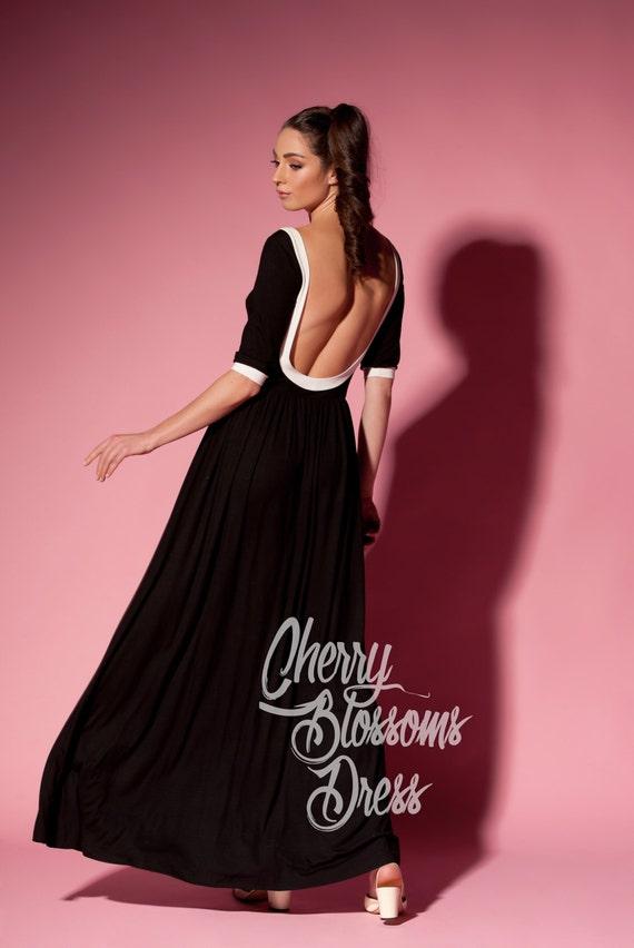 Black Maxi Dress Backless Dress Black Dress Long Dress Etsy