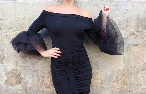 Party Black Black dress 215 dress black bodycon dress dress dress elegant dress Midi Little dress Dress Bodycon Evening 020 w1qSxIRq