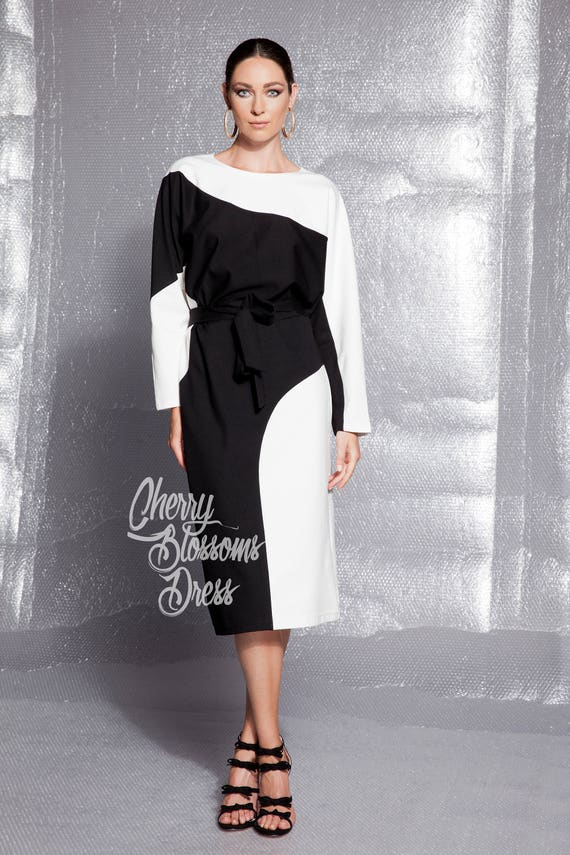 evening dress Black business 355 dress white Fall black 146 dress and midi dress plus yin and collection Elegant yang size q1ttyc8