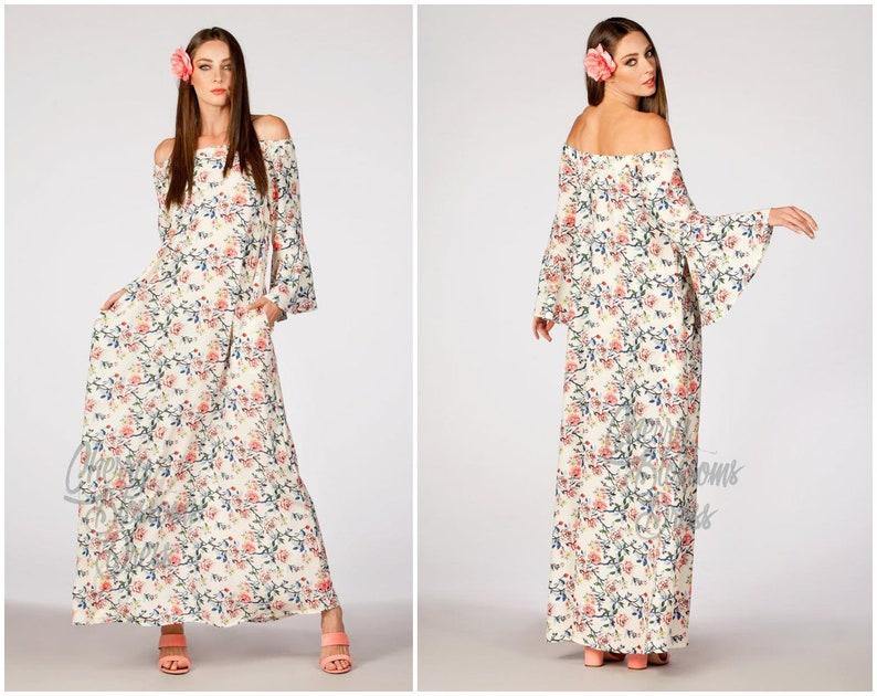 1d2f26426c0 Charming Boho Floral Summer Maxi Dress for Women   Girls