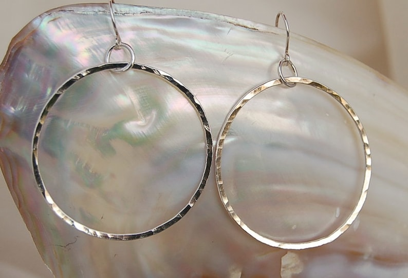 Signature Fine Silver Hoops  Large image 0