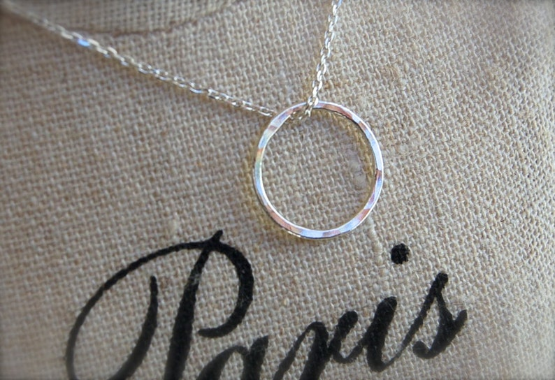 Simple Circle on Sterling Silver Chain image 0