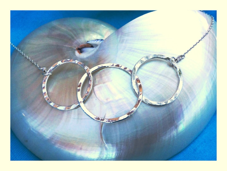 Three Circle Necklace in Fine Silver image 0