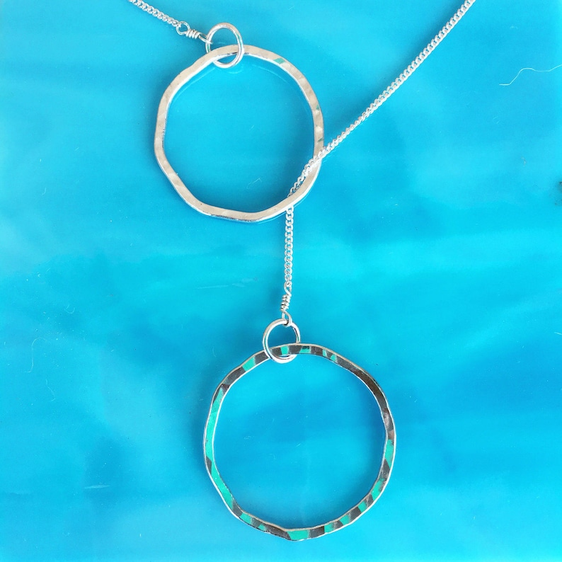 Lariat Style Necklace in fine silver image 0