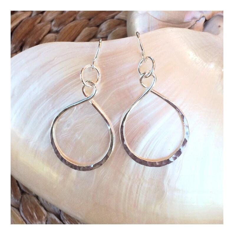 Fine Silver Infinity Earrings  medium image 0