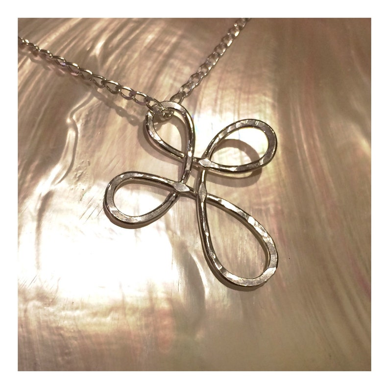 Infinity Cross Pendant on Sterling Silver Chain image 0