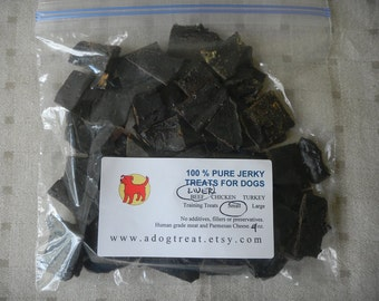 BEEF LIVER JERKY Strips and bits - 4 oz.  Dog Treats ...  4 ounce - 1/4 pound Pack