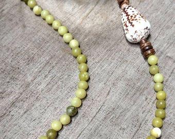 Hawaiian Cone Shell Lei Necklace