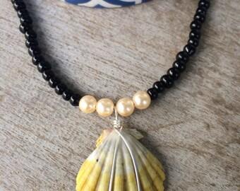 Hawaiian Sunrise Shell Beaded Necklace