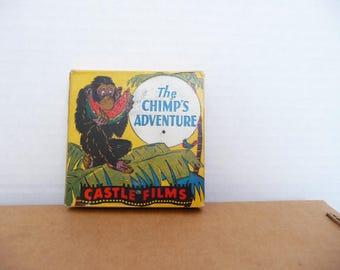 8mm film, The Chimp's Adventure, Castle Films, F175,